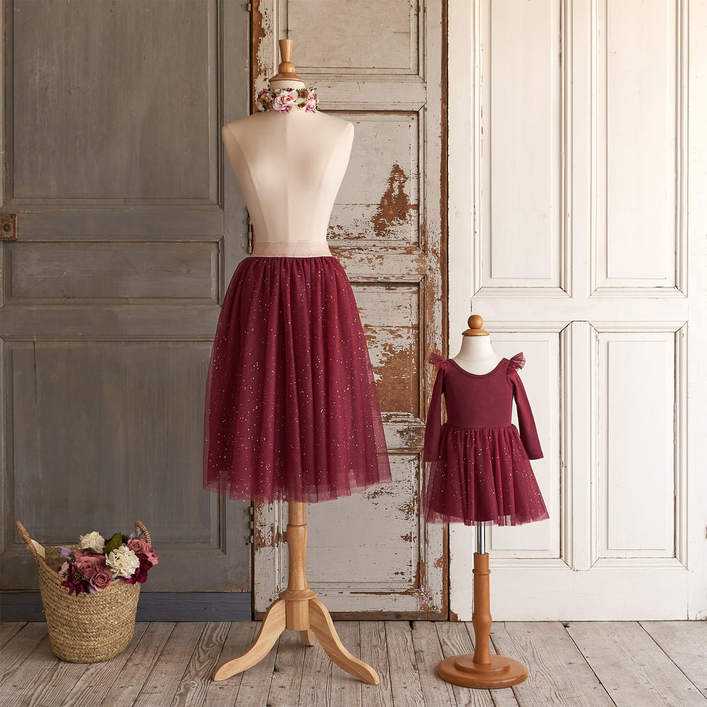 Ballerina Midi Skirt (Women) - Winterberry