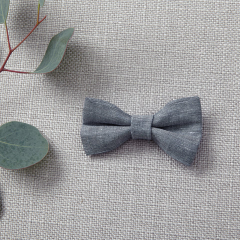 Bow Tie - Chambray Linen