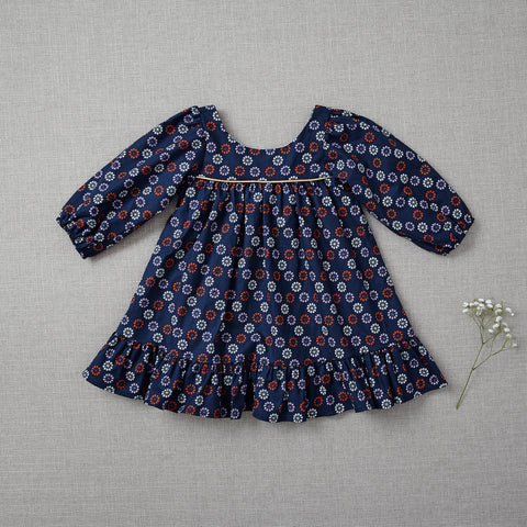 Fall Prairie Dress - Navy Starburst (Rare Edition)