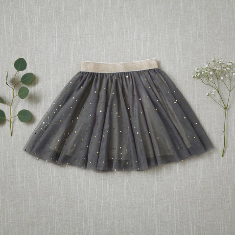 Twirly Tulle Skirt - Fog (Final Sale - Size 18/24m Only)