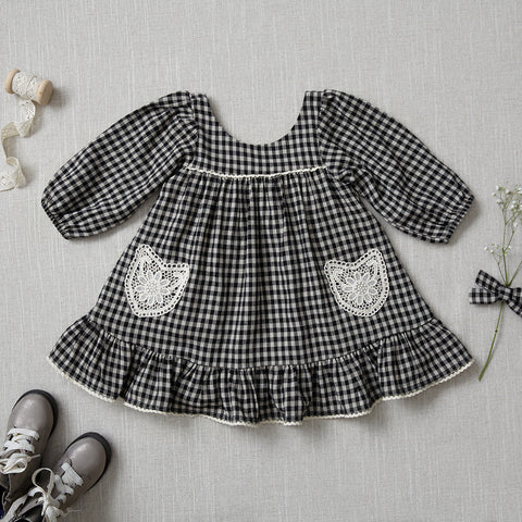 Fall Prairie Dress - Checked Linen (Rare Edition)