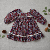 Fall Prairie Dress - Vintage Floral