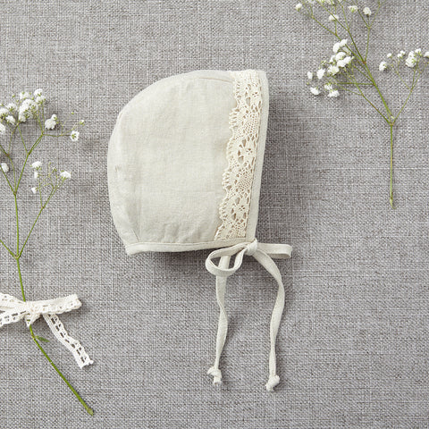 Bonnet - Gold Linen