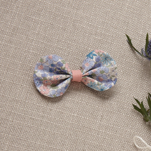 Hair Bow - Blue Bouquet