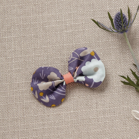 Hair Bow - Violet (*Organic Cotton)