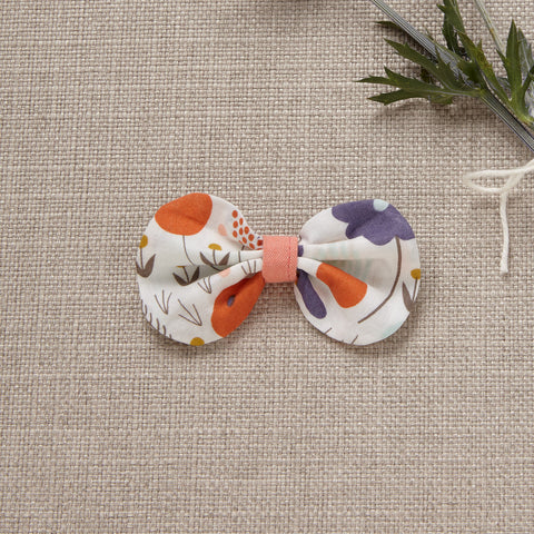 Hair Bow - Jasmine (*Organic Cotton)