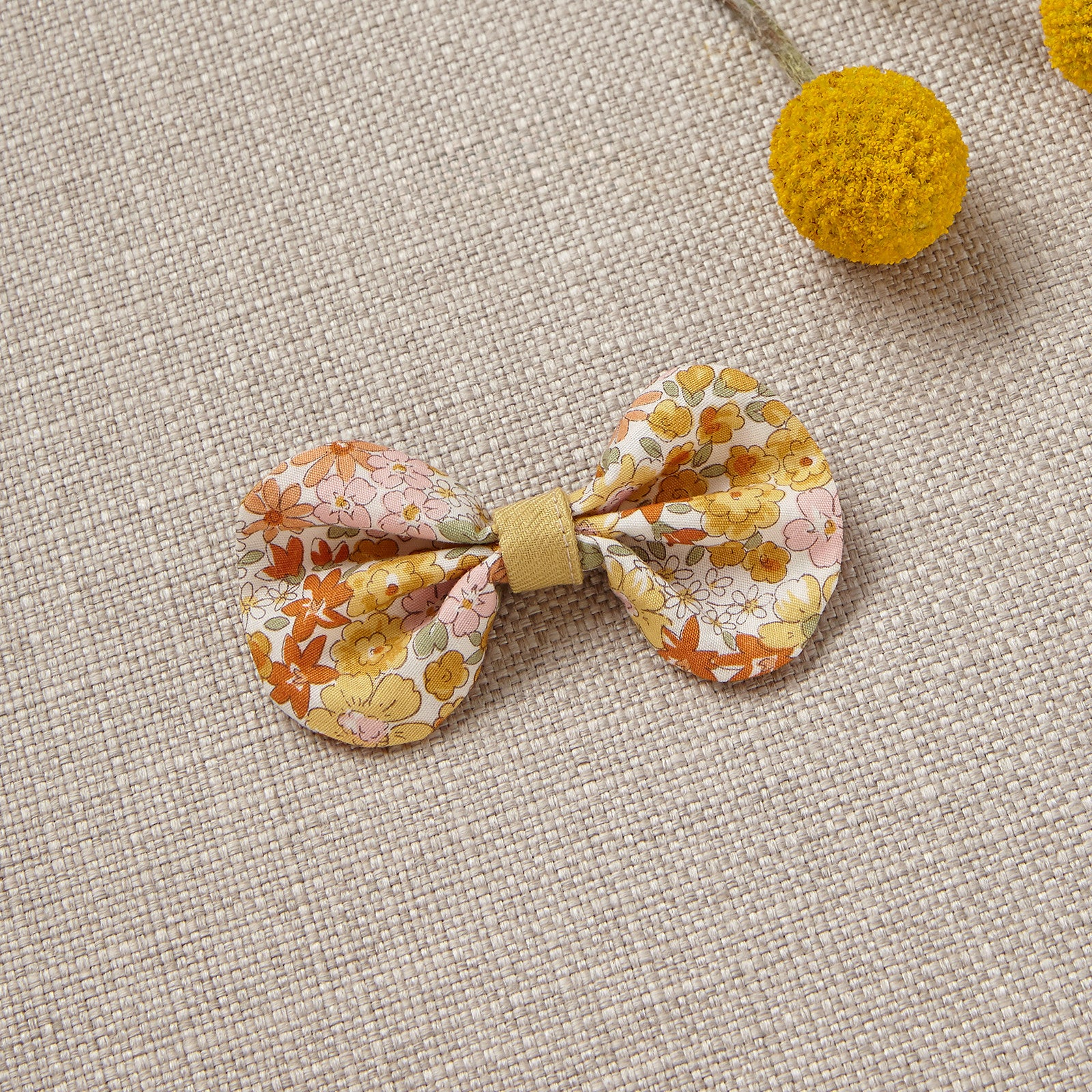 Hair Bow - Yellow Bouquet