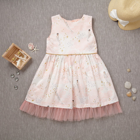Curtsy Dress - Mermaid in Blush