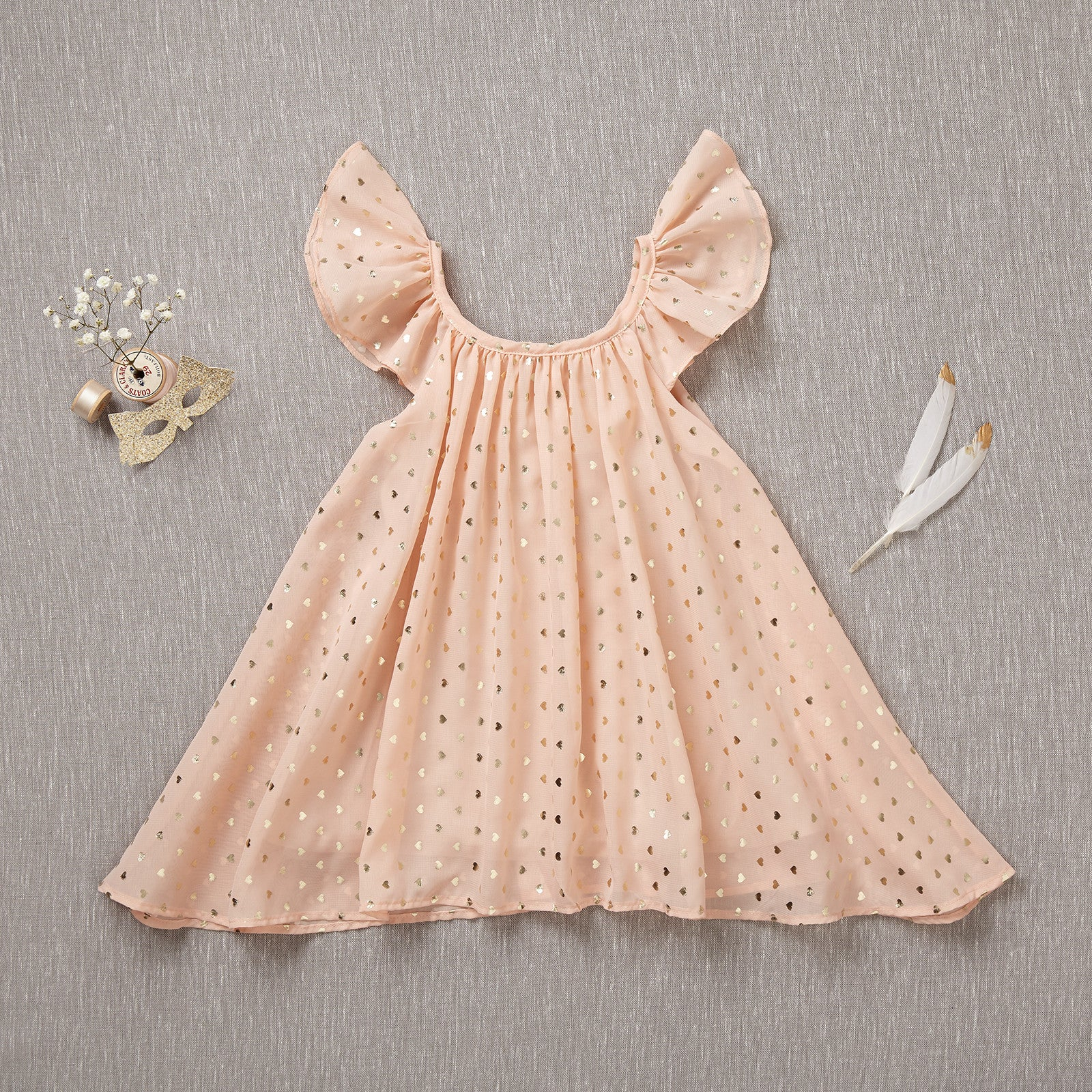 Pretty Please! - Rare Edition Gold Hearts/Blush Chiffon