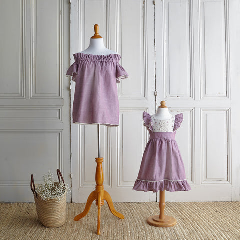 Off-Shoulder Blouse - Lavender Linen (Women)