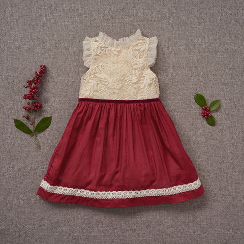 Holly Dress - Crimson (FINAL SALE)
