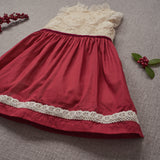 Holly Dress - Crimson (Size 18/24m & 2T)