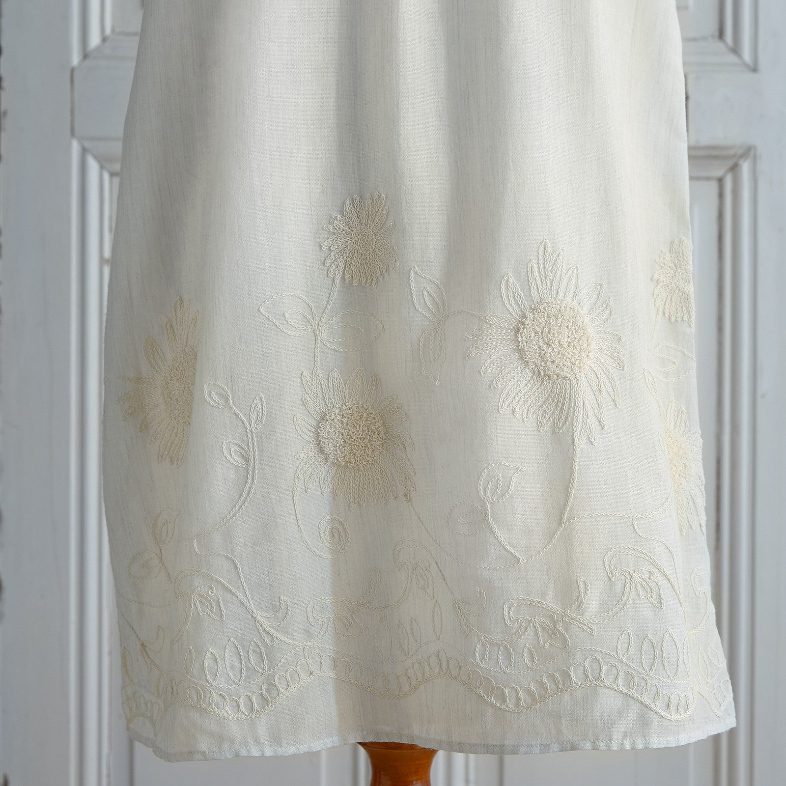 Off-Shoulder Embroidered Dress - Natural (Women) (Sizes XS & M Only)
