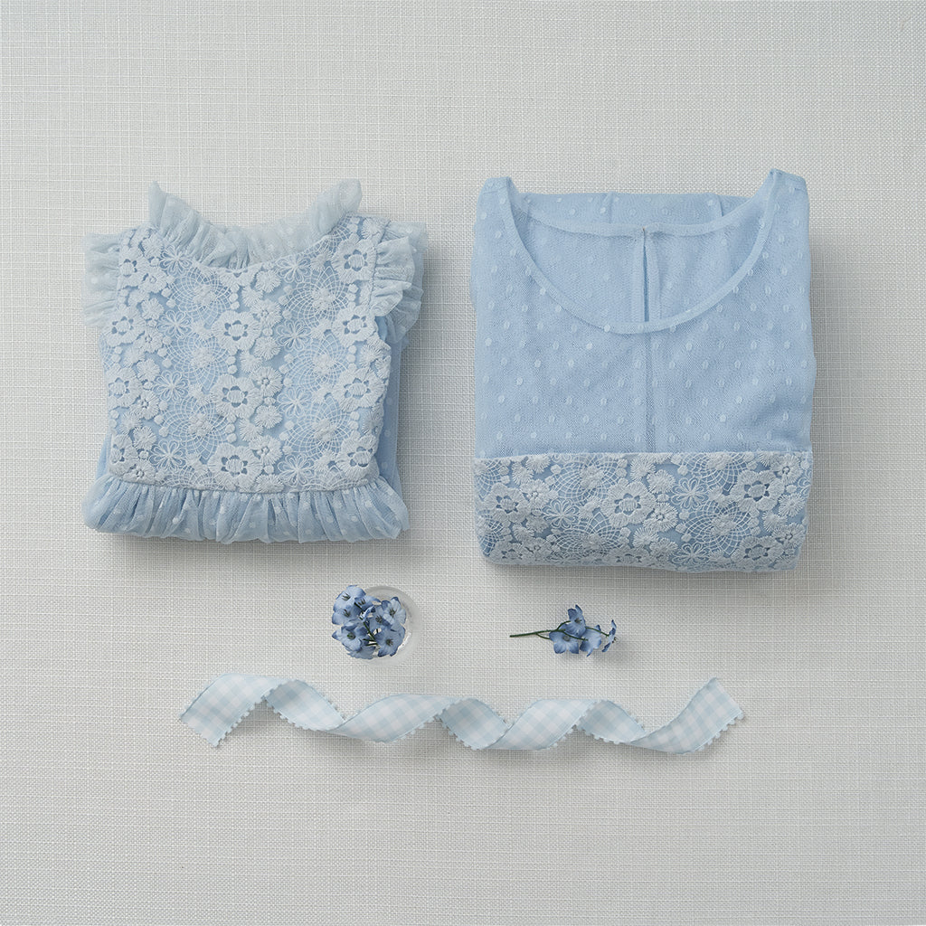 Spring Lace Dress - Powder Blue