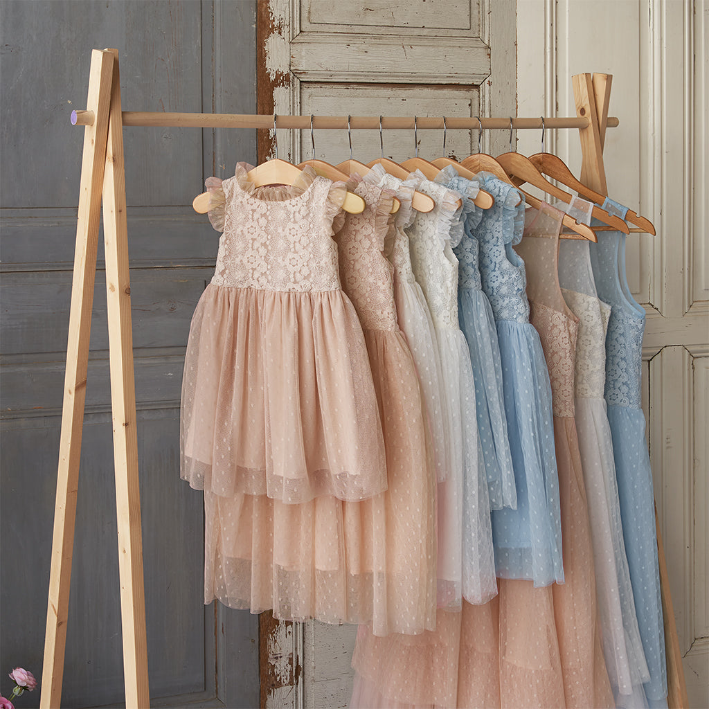 Spring Lace Dress - Blush