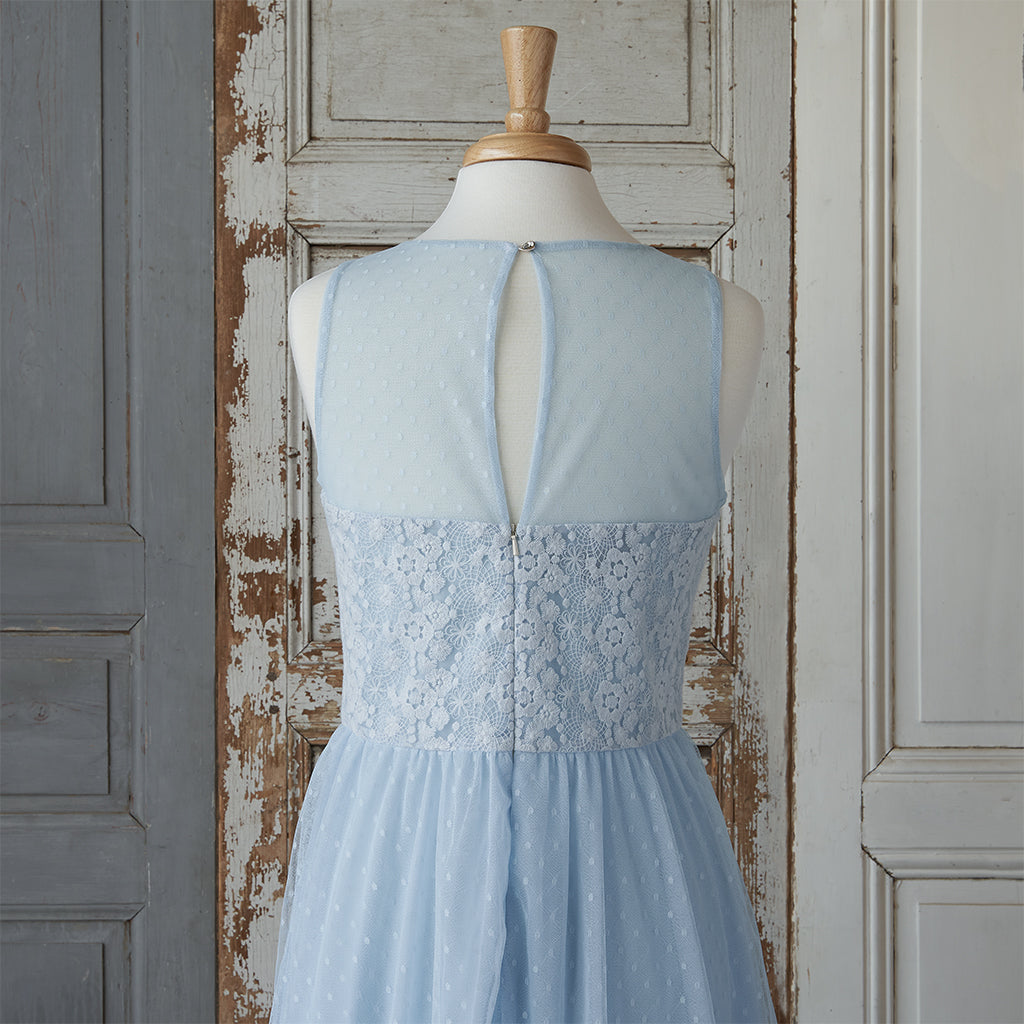 Spring Lace Dress (Women) - Powder Blue