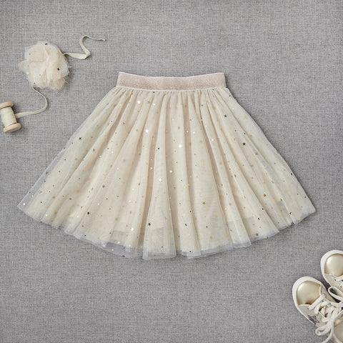 Twirly Tulle Skirt - Snowflake