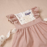 Flutter Dress - Dusty Rose Linen