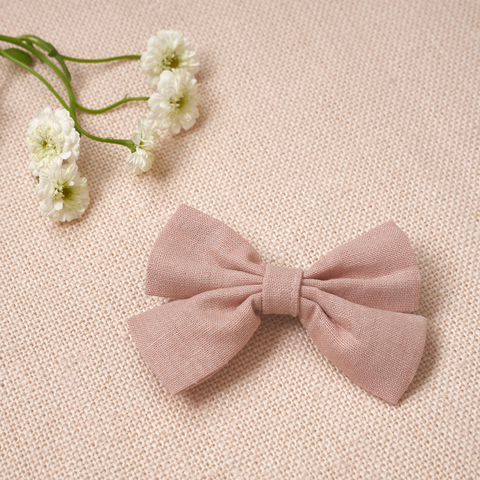 Criss Cross Bow - Dusty Rose Linen