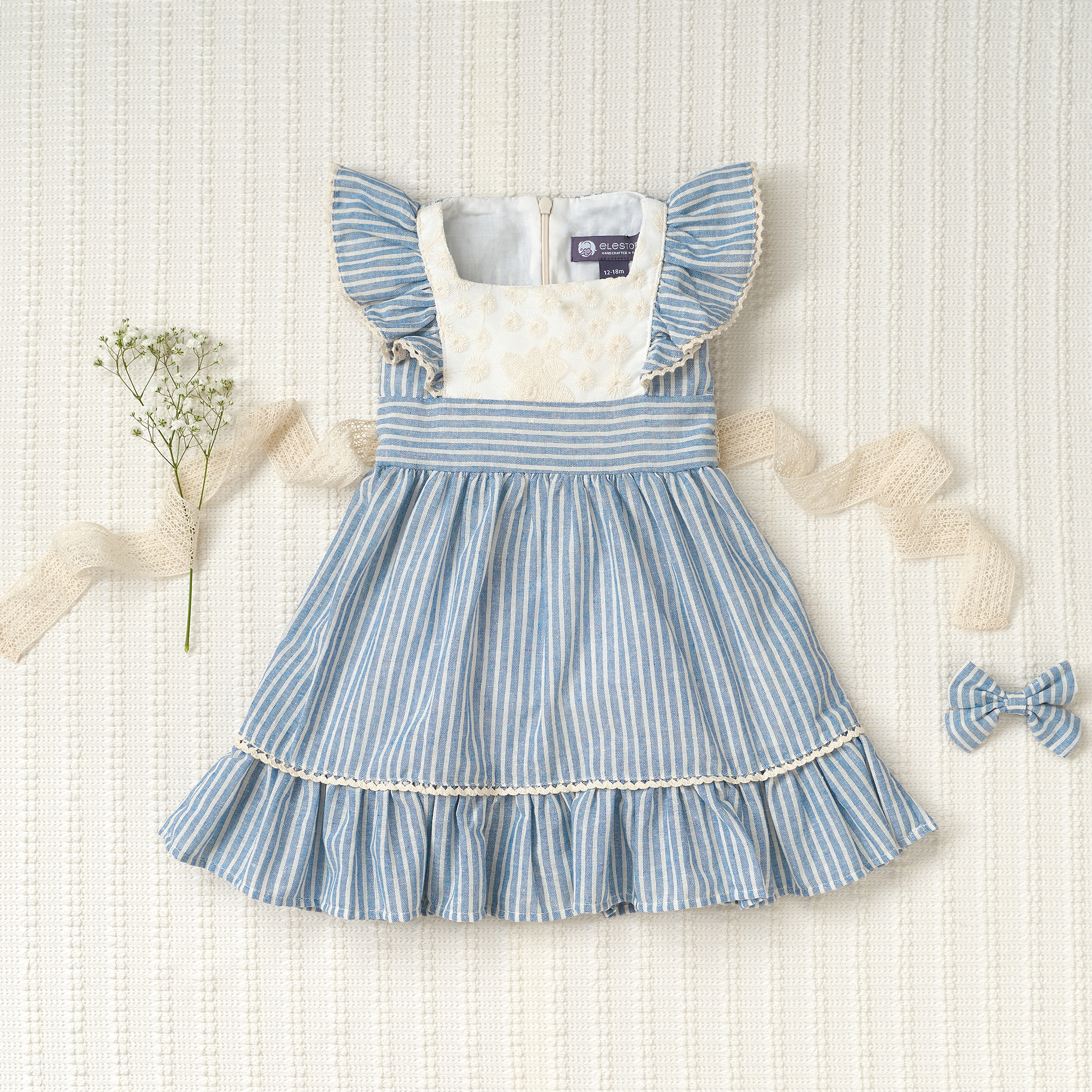 Flutter Dress - Striped