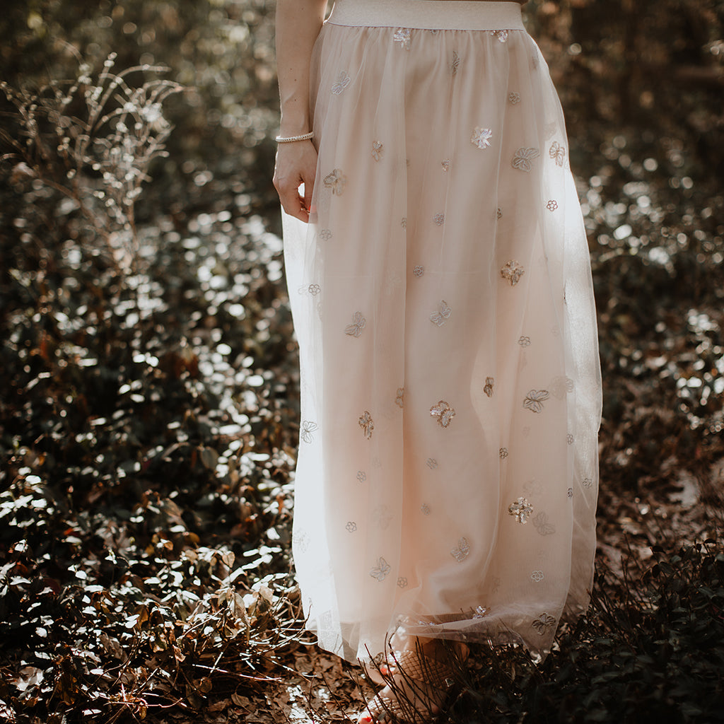 Ethereal Butterfly Maxi Skirt (Women)