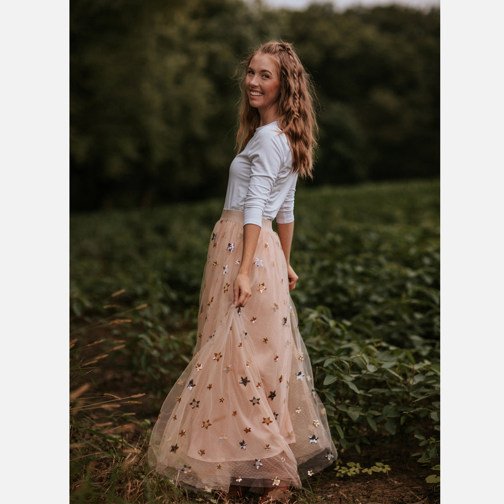 Princess Maxi Skirt (Women) - Blush
