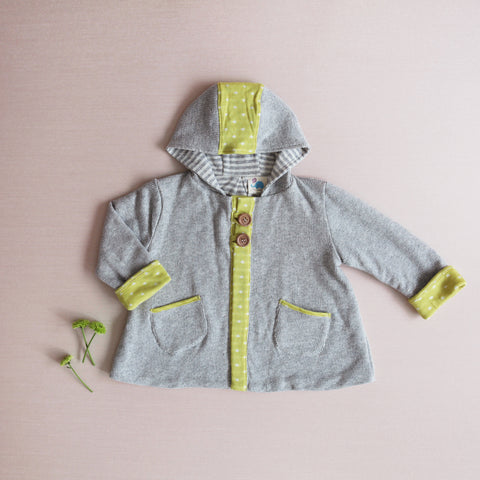 Favorite Soft Hoodie - Citron Hearts (Size 5 - LAST ONE)