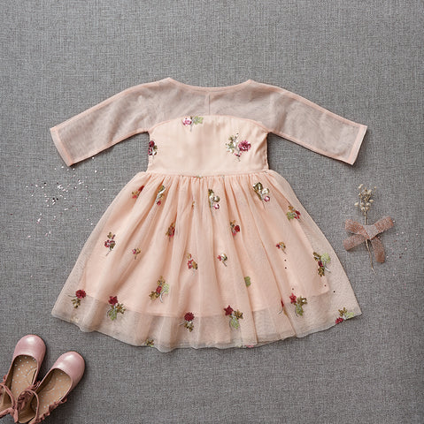 Holiday Cheer Dress - Pink Grapefruit