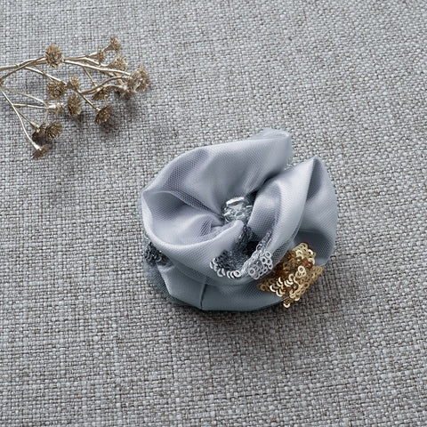 Little Princess Rosette Hair Clip - Dove