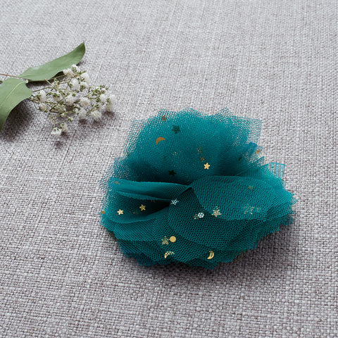 Flower Clip - Peacock Blue