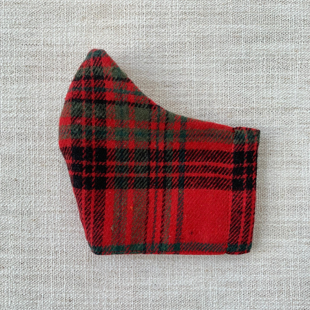 Cloth Mask - Glad for Plaid (Red Flannel)