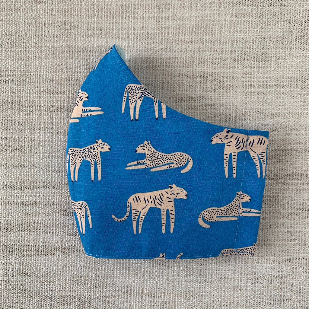 *In Stock* Cloth Masks (Adult & Child) - Cobalt Cats