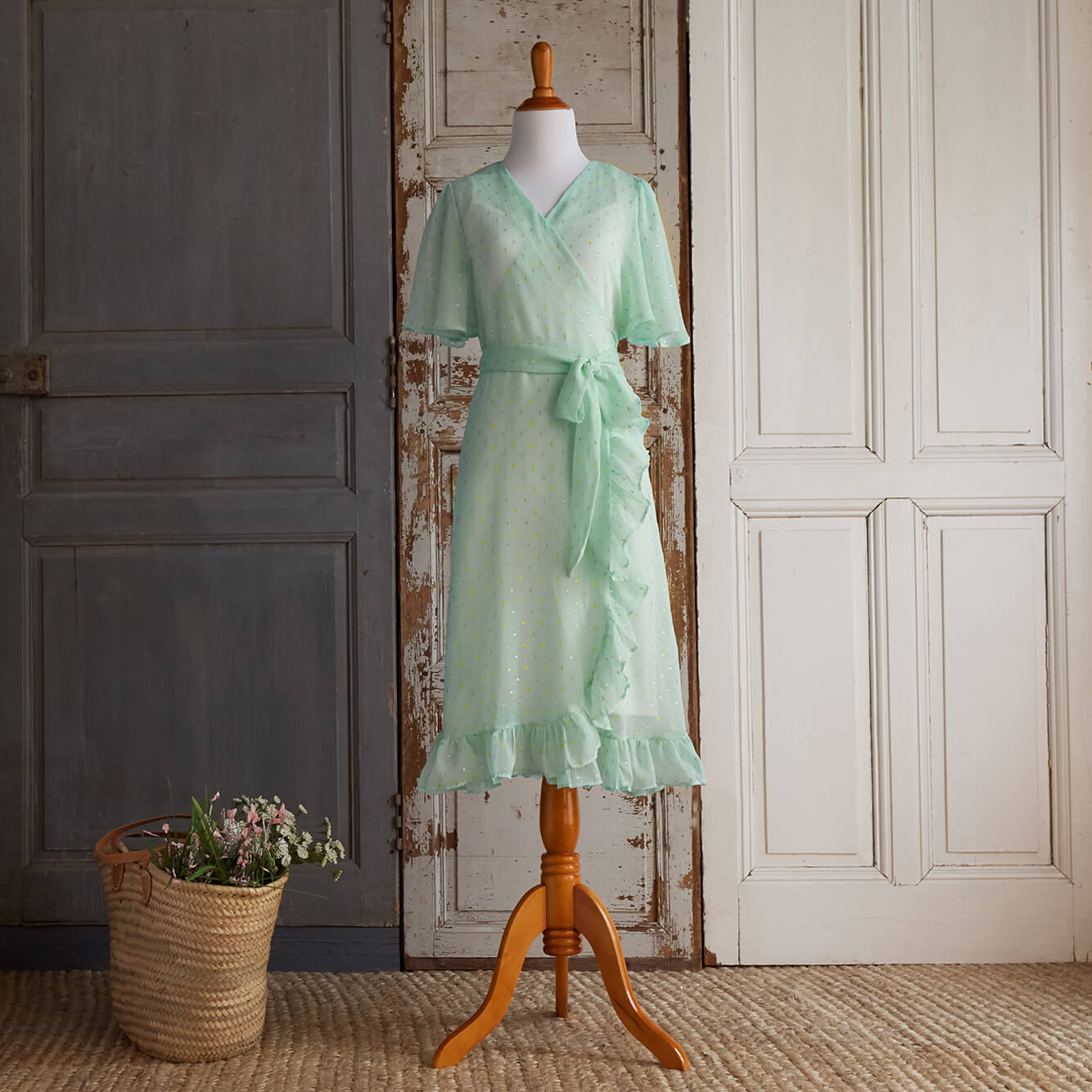 Little Gems Wrap Dress (Women) - Jade (FINAL SALE - Size XS Only)