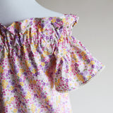 Off-Shoulder Blouse - Pink Bouquet (Women) (Size M Only - LAST ONE)