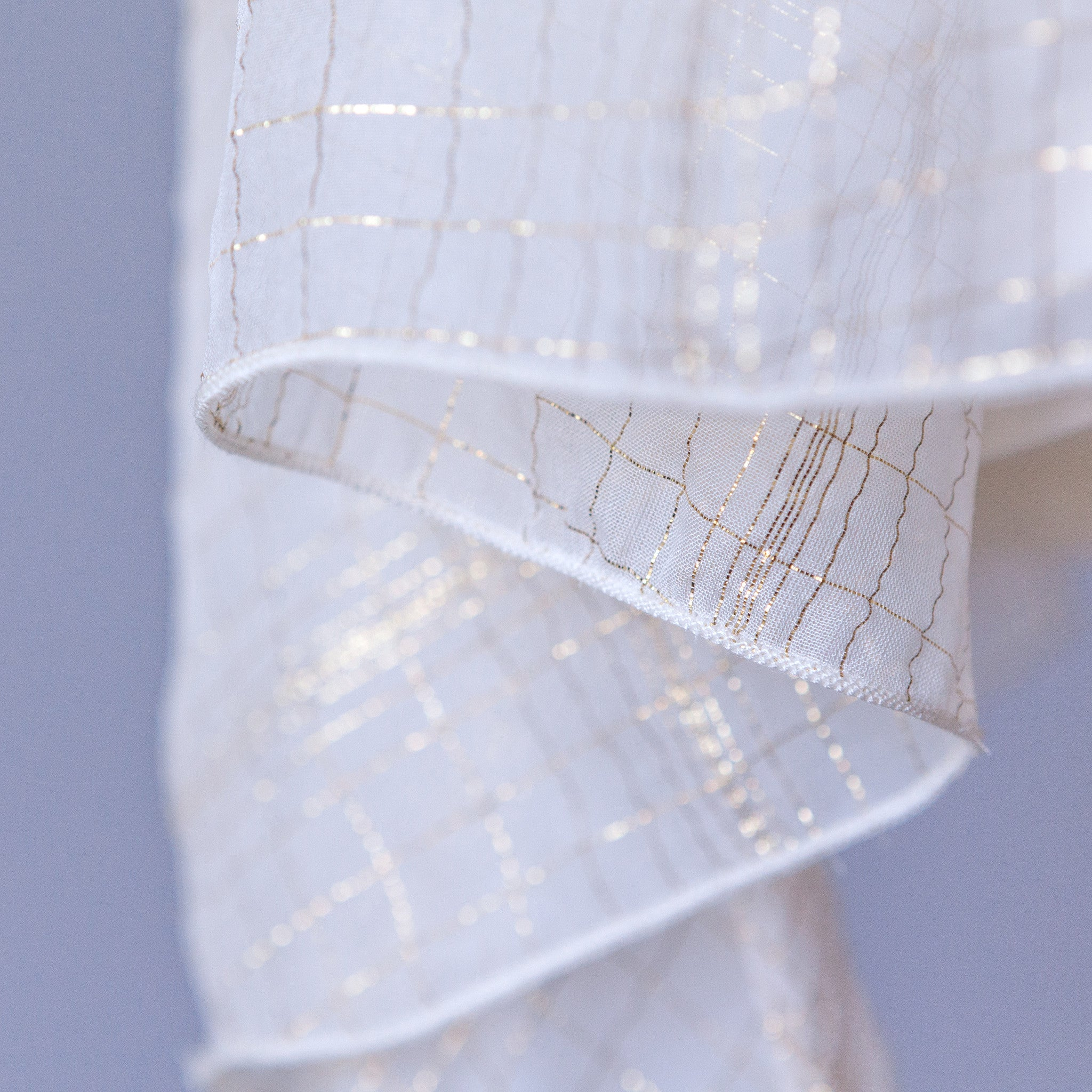 Pretty Special - Rare Edition White Silk Chiffon with Gold Lurex (Final Sale) (Size 10Y Only)
