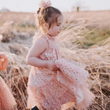Confetti Dress (Girls) - Peach (Size 12/18m & 10/12 Only)