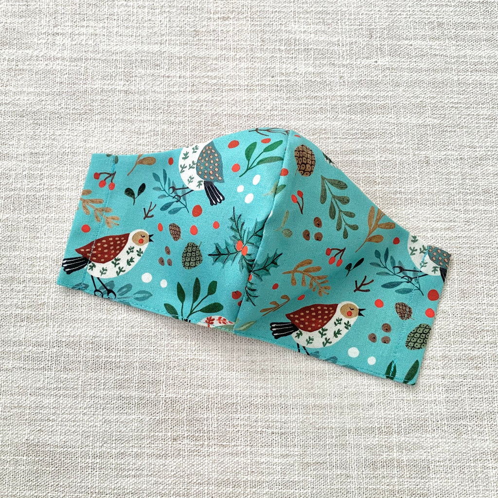 *In Stock* Cloth Masks (Child) - Songbirds (Sky Blue)