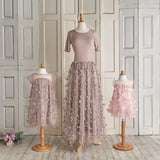 Petals Dress (Girls) - Taupe