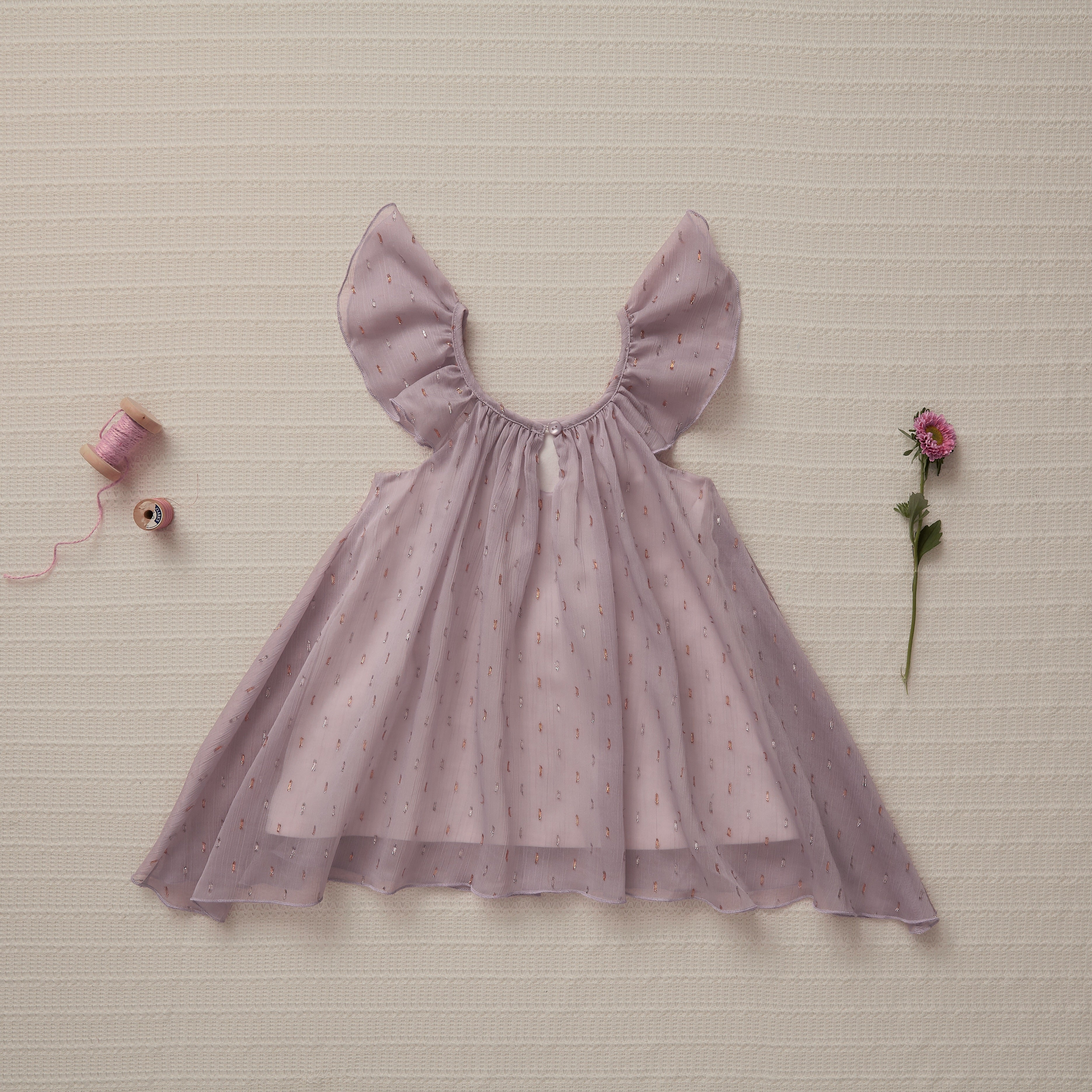 Little Gems Dress - Purple Topaz