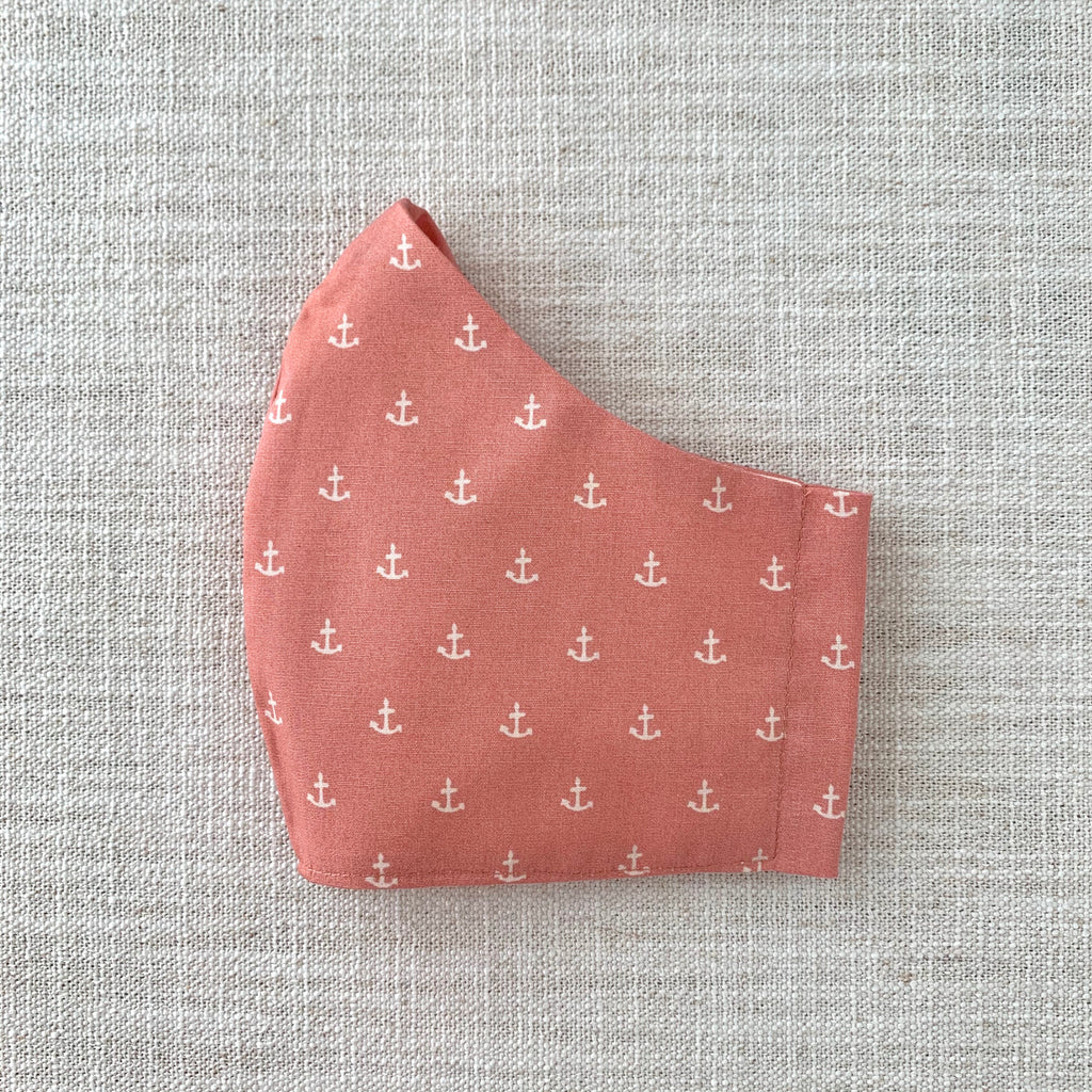 *In Stock* Cloth Masks (Adult) - Nautical in Peach