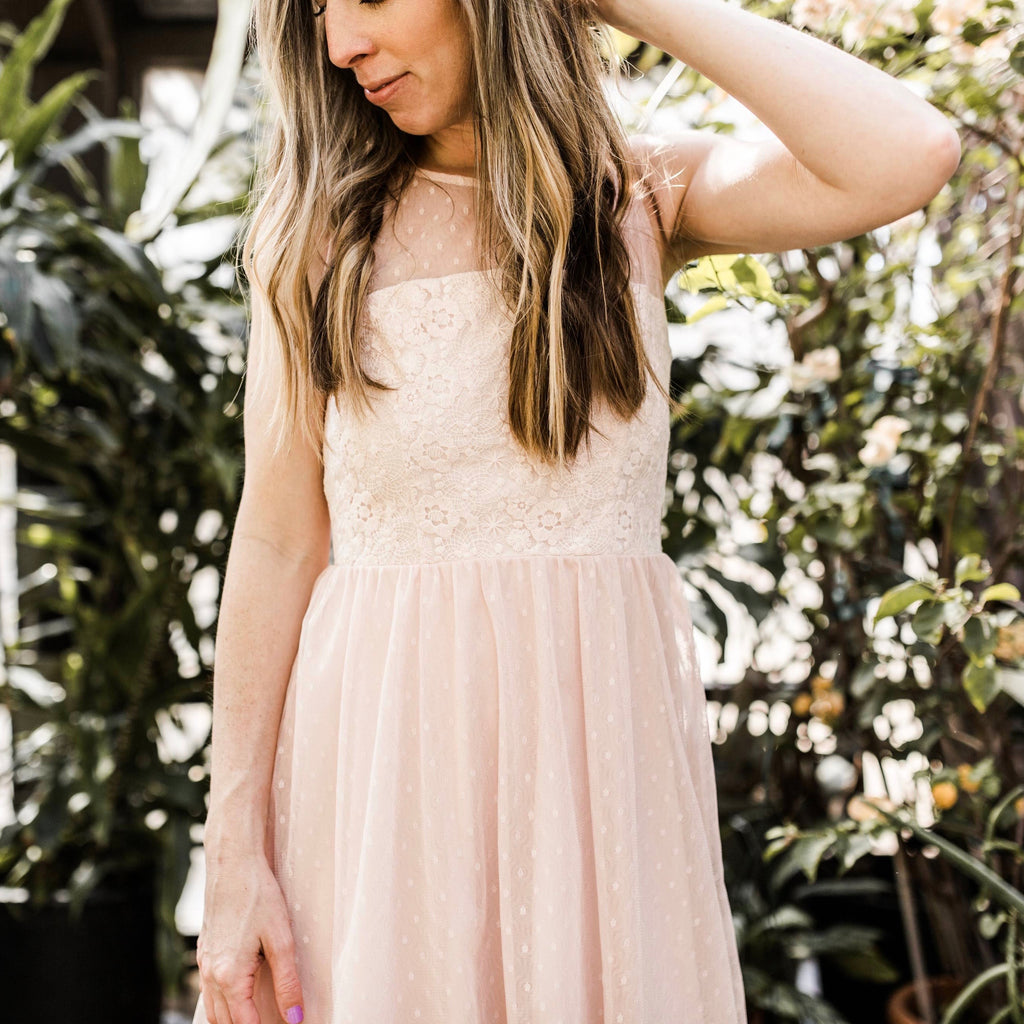 Spring Lace Dress (Women) - Blush