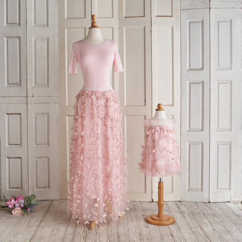Petals Ballerina Dress (Women) - Peony Pink