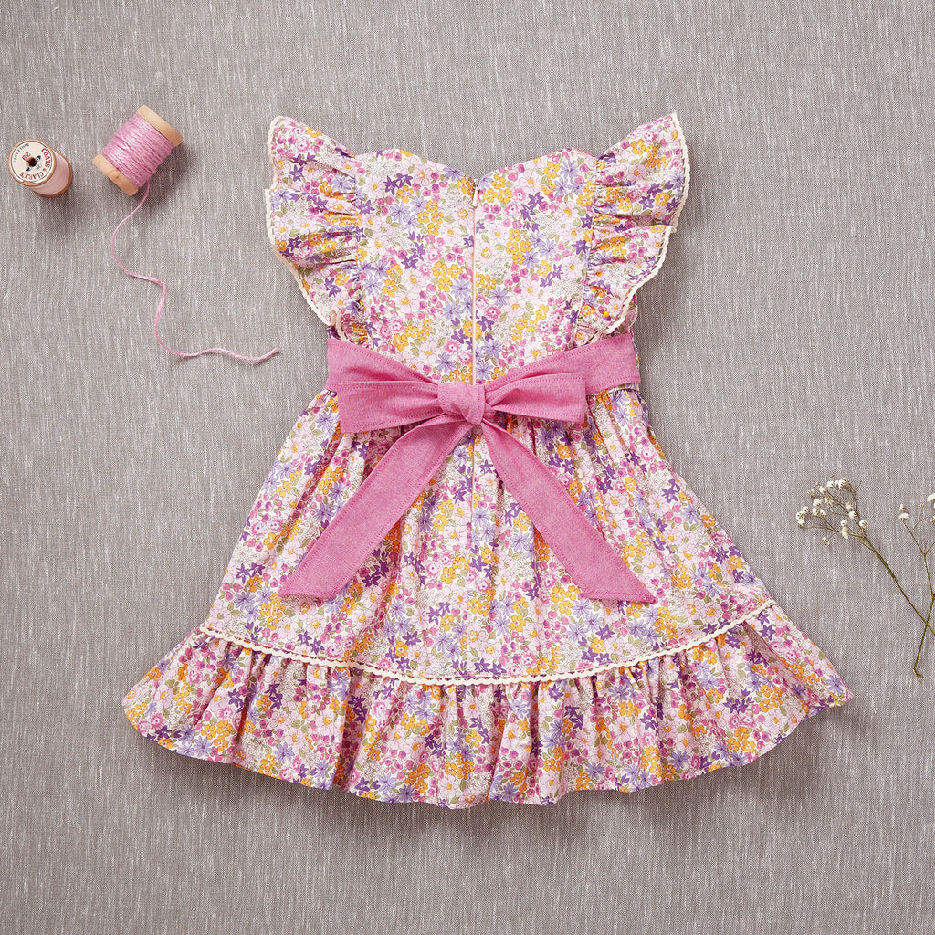 Flutter Dress - Pink Bouquet