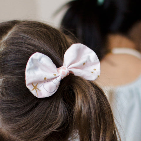 Hair Bow - Mermaids in Blush