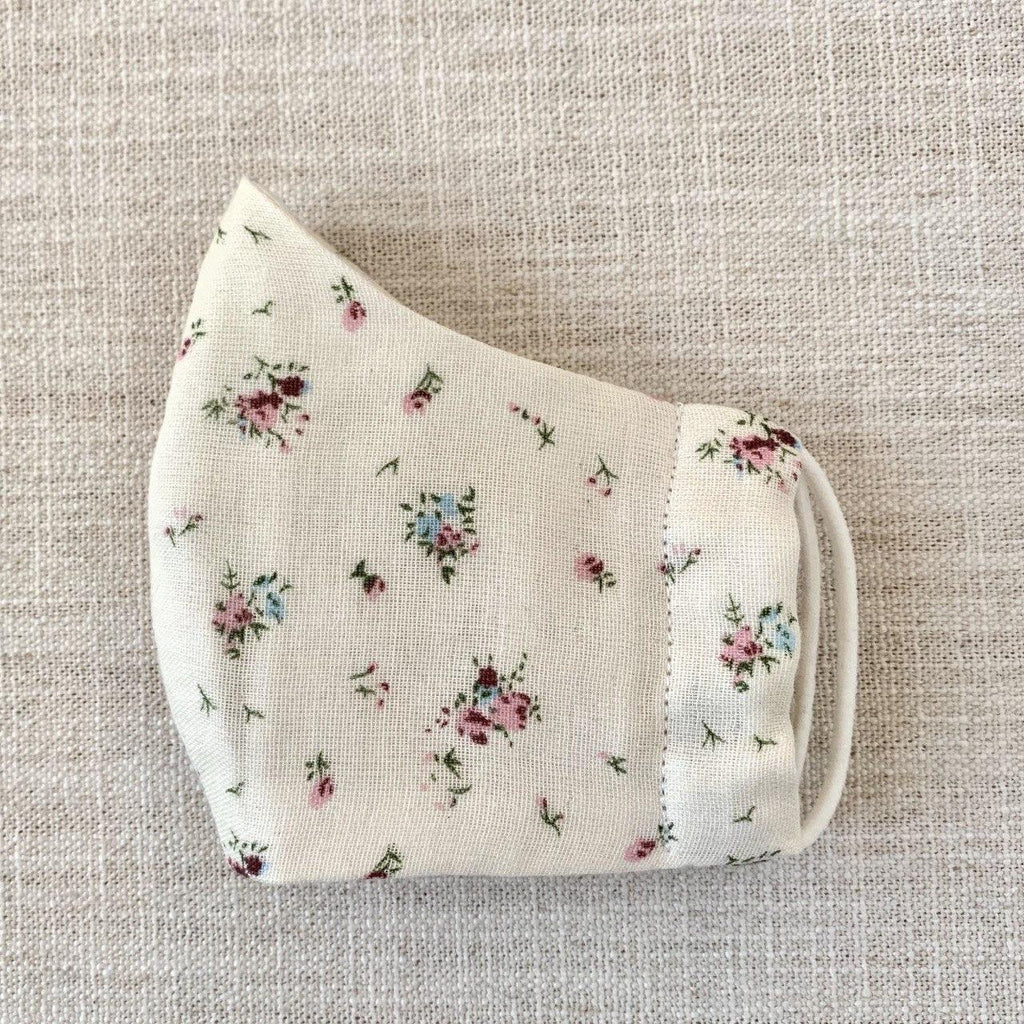 *In Stock* Cloth Masks (Adult & Child) - Cream Floral