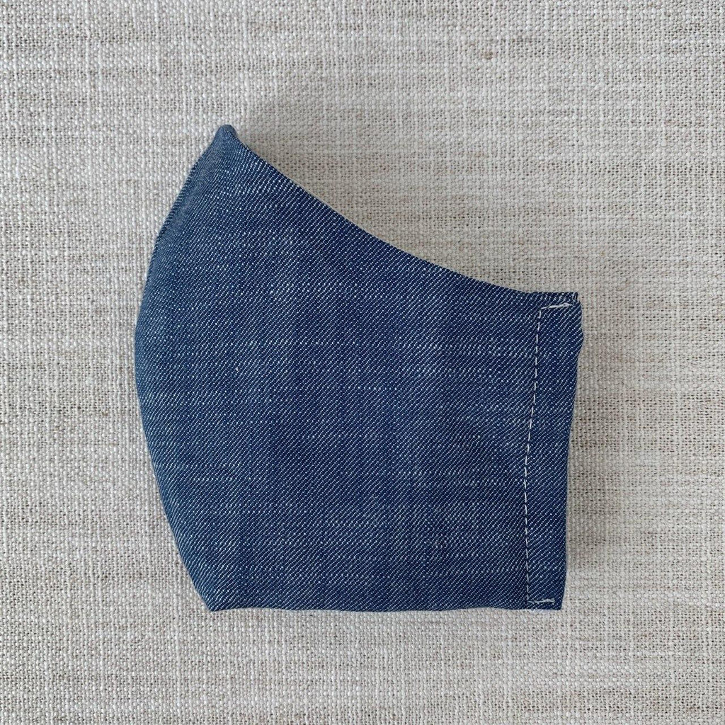 *In Stock* Cloth Masks (Adult & Child) - Brushed Denim Twill