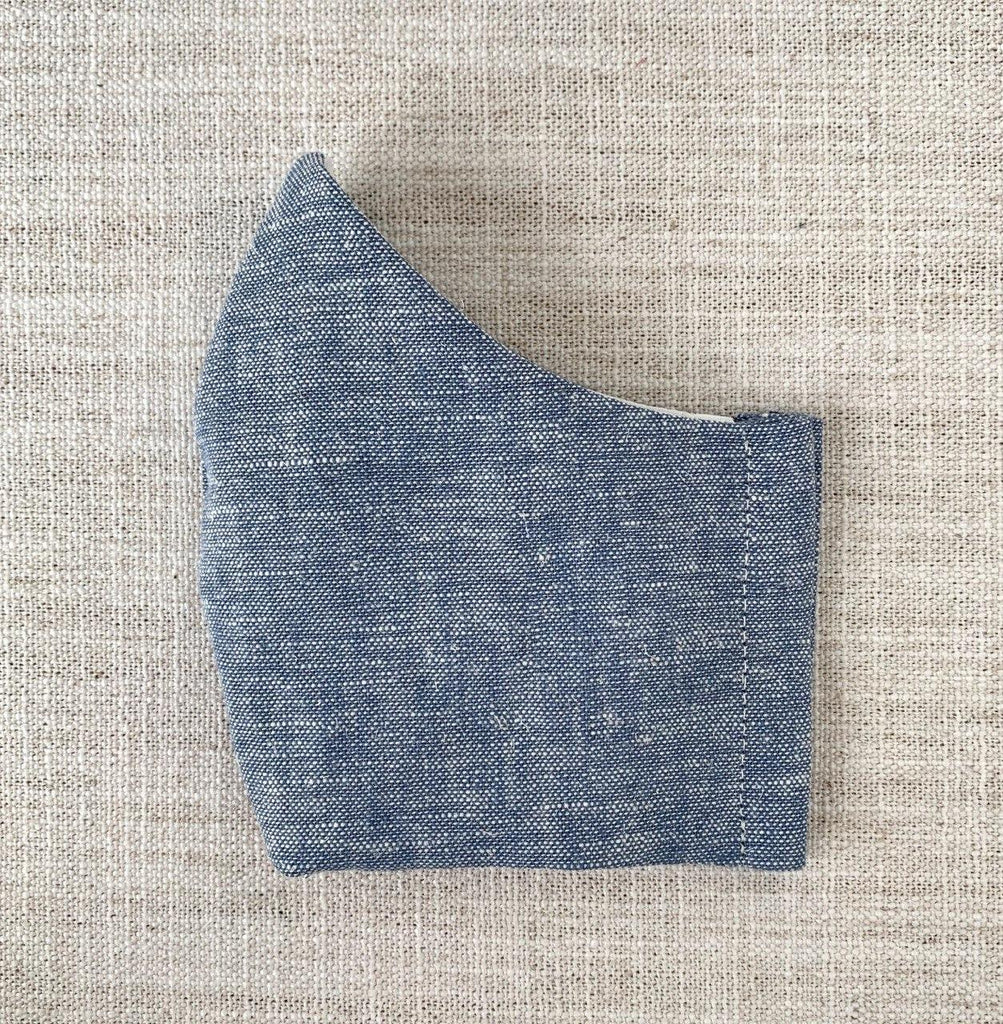 *In Stock* Cloth Masks (Adult & Child) - Chambray Linen