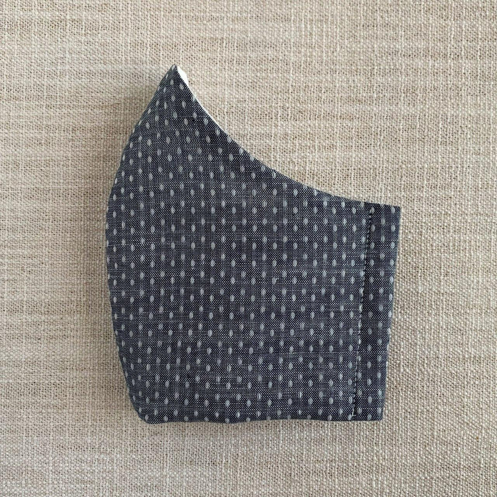 *In Stock* Cloth Masks (Adult & Child) - Chambray Dot