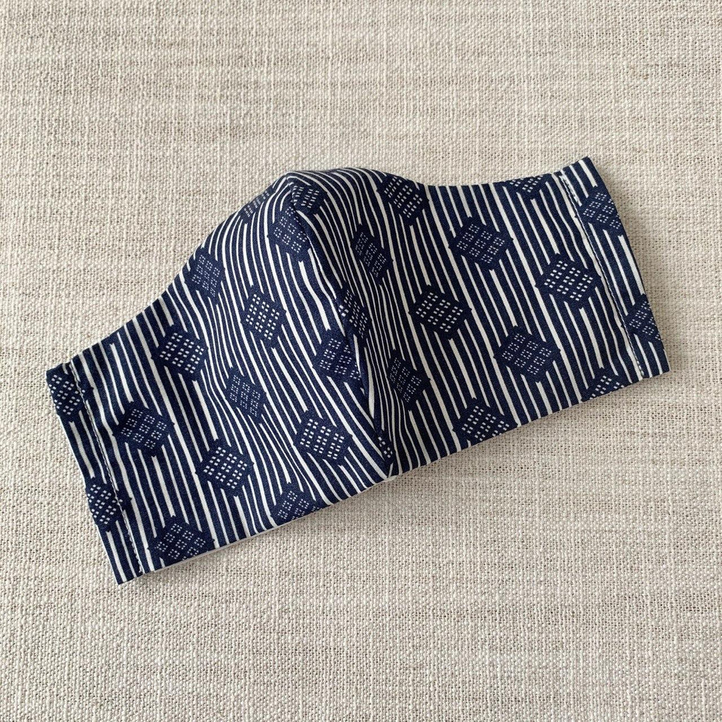 *In Stock* Cloth Masks (Adult) - Squares & Stripes