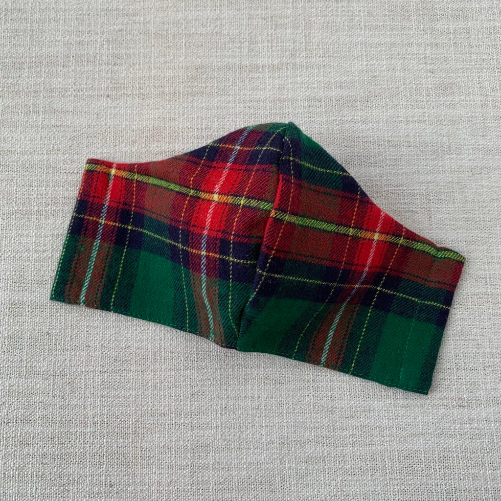 *In Stock* Cloth Masks (Adult & Child) - Glad for Plaid (Green Flannel)